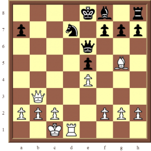 Paul Morphy playing White to move and checkmate in two moves.