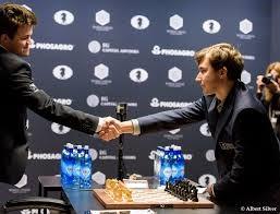 Magnus Shakes Hands