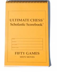 Scholastic Chess Scorebook For Students