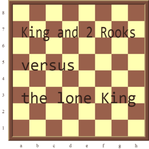 Checkmate Pattern 1: King and 2 Rooks versus the lone King.