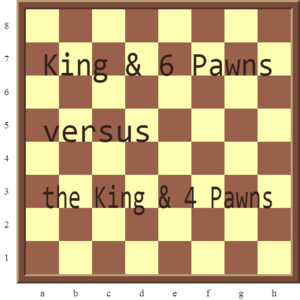 Checkmate Pattern 4: The King and 6 Pawns versus the lone King checkmate.
