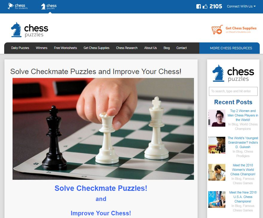 ChessPuzzles.com Solve Puzzles & Win Prizes