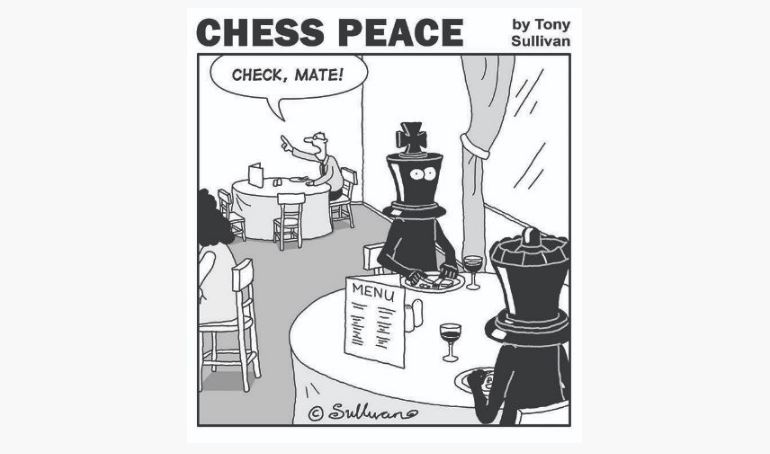 """Check, Mate!"" -from the new ""CHESS PEACE"" book"