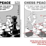 Drawing chess cartoons with Tony Sullivan.