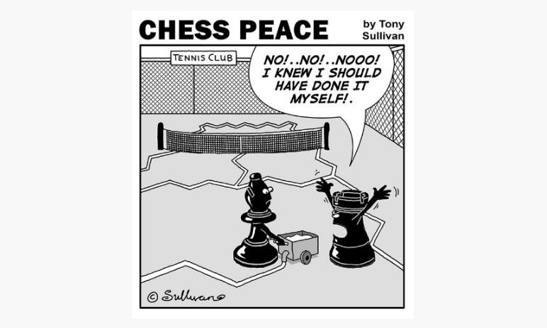 """A Tennis Court Bishop!"" -from ""CHESS PEACE"" book"